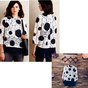HD in Paris ANTHRO | Polka Dot Lace Blouse | 8